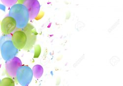 47703257 Bright Balloons And Confetti Birthday Background Greeting Card Vector Design Jpg